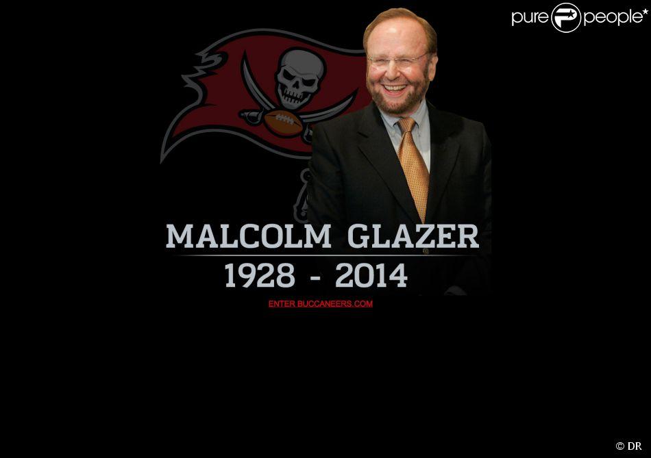 Capture d'écran du site internet des Tampa Bay, l'équipe NFL dont Malcolm Glazer était le propriétaire depuis 1995. Il est mort le 28 mai 2014.