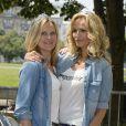 Natalia Sklenarikova (soeur d' Adriana) et Adriana Karembeu - 15e Rallye des Princesses à Paris - Journée des vérifications des voitures, Esplanade des Invalides. Paris, le 31 mai 2014