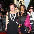 Roselyne Bachelot, Hapsatou Sy - Arrivées à l'avant-première du film 'Sous les jupes des filles' à l'UGC Normandie sur les Champs Elysées à Paris le 2 juin 2014.