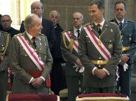 Felipe et Juan Carlos d'Espagne : En uniforme mais détendus, un moment spécial