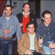 Les Inconnus et leur producteur Paul Lederman à Paris le 15 janvier 1991.