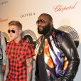 Exclusif - Justin Bieber et Rick Ross lors du showcase de Rick Ross au Gotha Club de Cannes, le 19 mai 2014.
