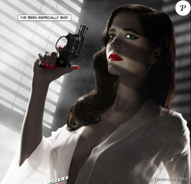 La version allégée de l'affiche censurée de Sin City : J'ai tué pour elle (A Dame To Kill For).