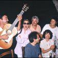 Michel Berger, France Gall et Nathalie Baye. Le 18 juillet 1989.