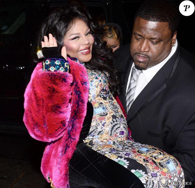 Lil' Kim enceinte à New York, le 13 février 2014.