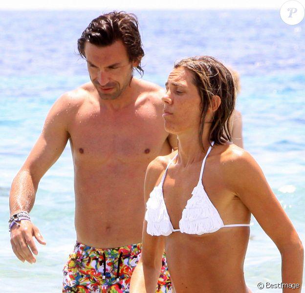 Exclusif - Andrea Pirlo et son épouse Deborah à Ibiza le 7 juillet 2012.