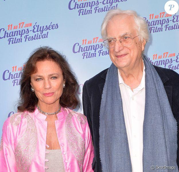 Jacqueline Bisset et Bertrand Tavernier lors de la soirée d'ouverture du 3e Champs-Elysées Film Festival 2014 à Paris, le 10 juin 2014.