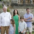 La famille royale de Danemark s'est réunie au château de Cayx (Lot), en France, le 11 juin 2014 autour du prince Henrik pour fêter ses 80 ans.