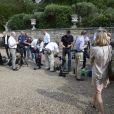 Photographes et journalistes au château de Cayx, propriété de la reine Margrethe II depuis 1974, où le prince consort Henrik célébrait le 11 juin 2014 son 80e anniversaire, entouré des siens et des vignes qu'il chérit.