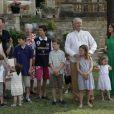 Les 80 ans du prince Henrik de Danemark, le 11 juin 2014 au Château de Cayx (Lot)