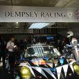 Patrick Dempsey, lors des qualifications aux 24H du Mans, le 12 juin 2014 sur le circuit de la Sarthe