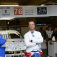 David Hallyday lors des qualifications aux 24H du Mans, le 12 juin 2014 sur le circuit de la Sarthe