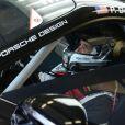 Patrick Dempsey lors des qualifications aux 24H du Mans, le 11 juin 2014 sur le circuit de la Sarthe