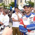 David Hallyday lors de la présentation des équipes qui participeront aux 24H du Mans, le 9 juin 2014 au Mans