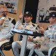 Patrick Dempsey lors de la présentation des équipes qui participeront aux 24H du Mans, le 8 juin 2014 au Mans