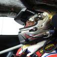 David Hallyday lors des essais des 24H du Mans, le 9 juin 2014 au Mans