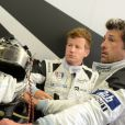 Patrick Dempsey lors des essais des 24H du Mans, le 1er juin 2014 au Mans
