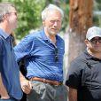 """Clint Eastwood sur le tournage de """"American Sniper"""" à Los Angeles, le 5 mai 2014."""