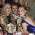 """Franca Sozzani, Francesca Ruffini, Beatrice Borromeo lors du dîner ""Convivio 2014"" à Milan, le 12 juin 2014."""