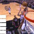 Tony Parker et les Spurs de San Antonio ont écrasé le Heat de Miami lors du match 5 des finales NBA (104-87) pour s'adjuger le titre de champion NBA, le 15 juin 2014 à San Antonio