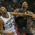 Les Spurs de San Antonio emmenés par Boris Diaw ont décroché le cinquième titre NBA de leur histoire en s'imposant face au Heat de Miami (104-87), dans leur salle du AT&T Center lors du match 5 des finales, le 15 juin 2014