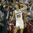 Les Spurs de San Antonio et Manu Ginobili ont décroché le cinquième titre NBA de leur histoire en s'imposant face au Heat de Miami (104-87), dans leur salle du AT&T Center lors du match 5 des finales, le 15 juin 2014