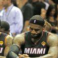 LeBron James au bord des larmes après que les Spurs de San Antonio aient décroché le cinquième titre NBA de leur histoire en s'imposant face au Heat de Miami (104-87), dans leur salle du AT&T Center lors du match 5 des finales, le 15 juin 2014