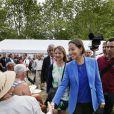 Au lendemain des obsèques de son frère Antoine, la ministre Ségolène Royal au Marais Poitevin à Coulon, le 15 juin 2014.
