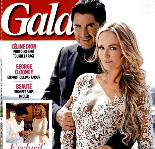 Adriana Karembeu, jeune mariée en couverture du magazine Gala, daté du 18 juin 2014.