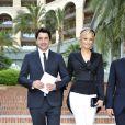 """Le top model Adriana Karembeu et son compagnon André Ohanian à la soirée """"'Dallas"""" organisée au Monte Carlo Bay Hotel, le 12 juin 2013."""