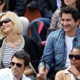 Adriana Karembeu et son compagon André Ohanian aux Internationaux de France de Roland-Garros à Paris, le 9 juin 2012.