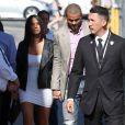 Tony Parker et sa future épouse Axelle à Los Angeles à l'occasion de l'enregistrement de l'émission 'Jimmy Kimmel Live !' le 19 juin 2014