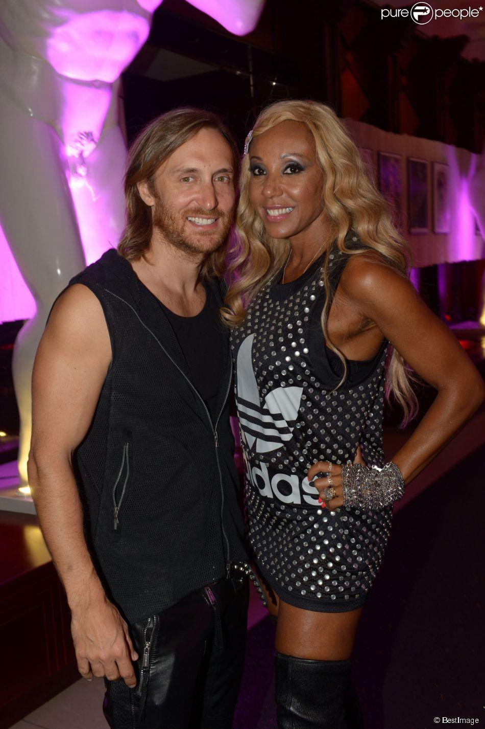 Cathy Guetta et David Hallyday David et Cathy Guetta au Gotha