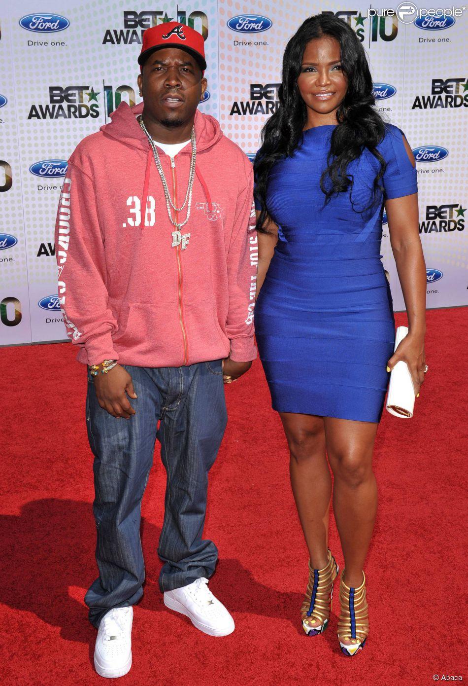 Big Boi et sa femme Sherlita à Los Angeles. Juin 2010.