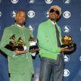 Big Boi et Andre 3000 du groupe Outkast lors des Grammy Awards 2004.