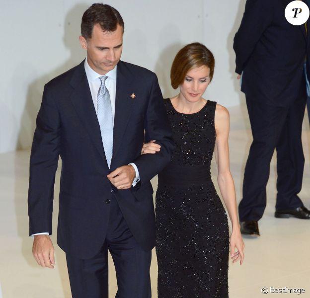 Le roi Felipe VI et la reine Letizia d'Espagne assistent à la remise du prix de la Fondation Prince de Gérone en Espagne le 26 juin 2014.