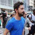 Shia LaBeouf quittant le tribunal de New York le 27 juin 2014