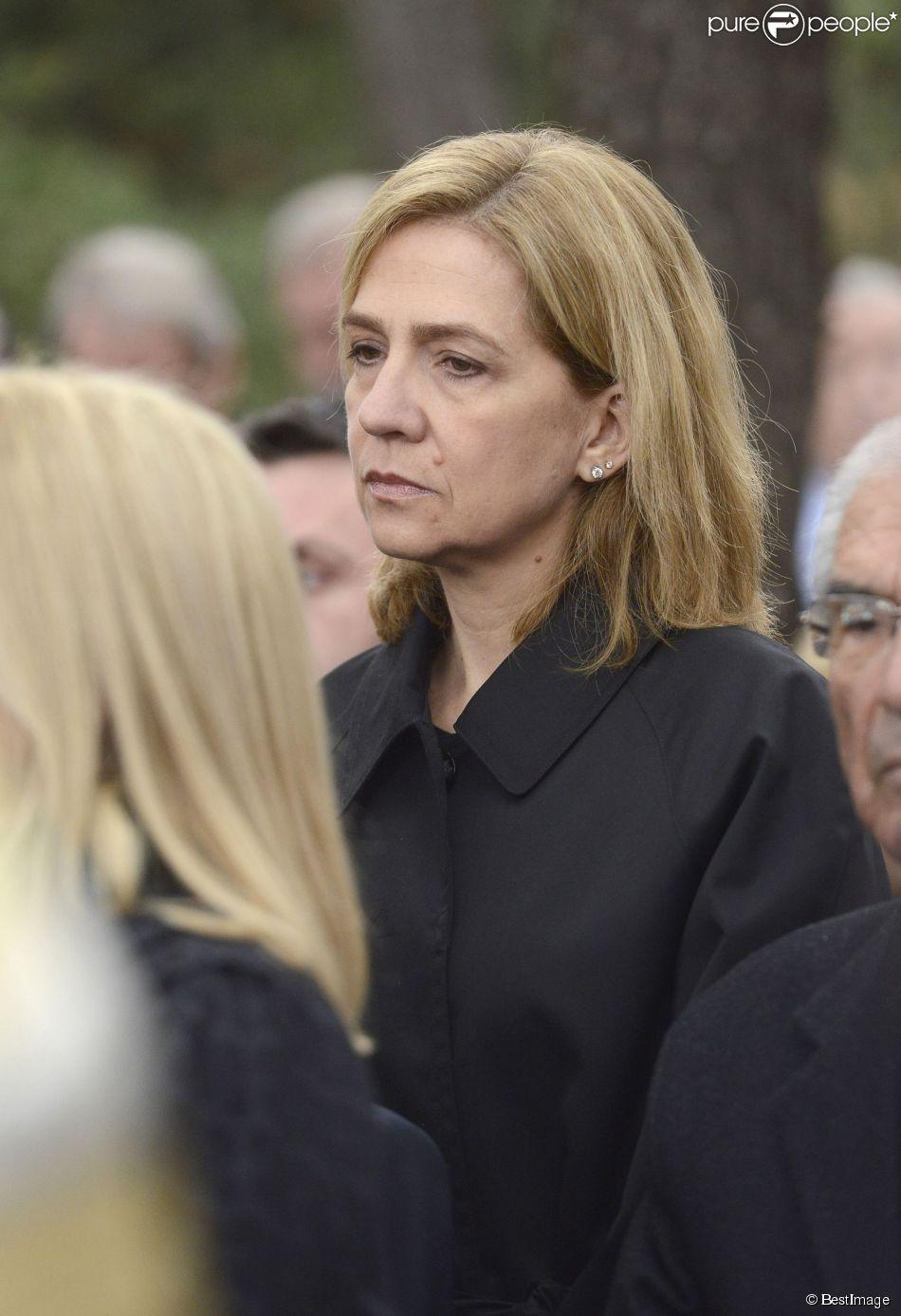 L'infante Cristina d'Espagne lors de la cérémonie commémorant les 50 ans de la disparition du roi Paul Ier de Grèce, le 6 mars 2014 à la nécropole royale du domaine Tatoï, au nord d'Athènes.