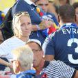 Sandra Evra - Les Femmes des joueurs de l'équipe de France lors du match France - Allemagne à Rio de Janeiro au Brésil le 4 juillet 2014. L'équipe de France quitte la compétition sur une défaite contre l'Allemange 1 à 0.
