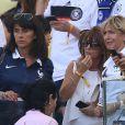 Claude Deschamps au milieu - Les Femmes des joueurs de l'équipe de France lors du match France - Allemagne à Rio de Janeiro au Brésil le 4 juillet 2014. L'équipe de France quitte la compétition sur une défaite contre l'Allemange 1 à 0.