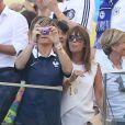 Claude Deschamps - Les Femmes des joueurs de l'équipe de France lors du match France - Allemagne à Rio de Janeiro au Brésil le 4 juillet 2014. L'équipe de France quitte la compétition sur une défaite contre l'Allemange 1 à 0.