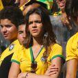 Bruna Marquezine, compagne de Neymar, assiste au match Brésil contre Chili à Belo Horizonte city, le 28 juin 2014