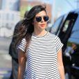 Kourtney Kardashian (enceinte) dans les rues de New York, le 7 juillet 2014.