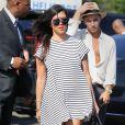 Kourtney Kardashian (enceinte) à New York, le 7 juillet 2014.