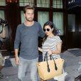 Kourtney Kardashian (enceinte) et Scott Disick à New York, le 7 juillet 2014.