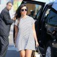 Kim Kardashian va dîner avec sa soeur Kourtney Kardashian et Scott Disick à New York, le 7 juillet 2014.