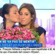 """Léa Salamé fait ses adieux à ses chroniqueurs et aux téléspectateurs de """"On ne va pas se mentir"""" sur i-Télé. Jeudi 10 juillet 2014."""