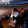 Rihanna dévoile sa poitrine après la victoire allemande en Coupe du monde au Maracanã de Rio, photo publiée sur son compte Twitter le 13 juillet 2014