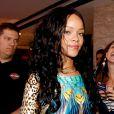 Rihanna à l'arrivée à son hôtel de Rio le 12 juillet 2014