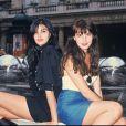 Lio et Helena Noguerra à Paris, le 1er juillet 1988.